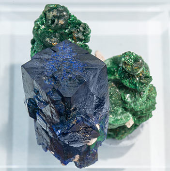 Azurite with Malachite. Top