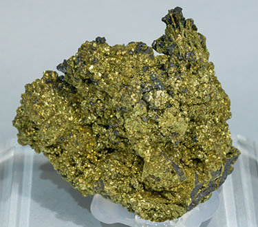 Chalcopyrite after Polybasite with Acanthite. Rear