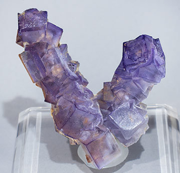 Fluorite with Baryte and Stibnite.