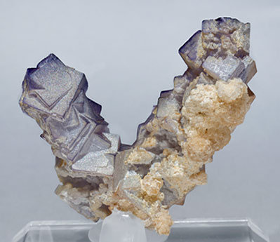 Fluorite with Baryte. Rear