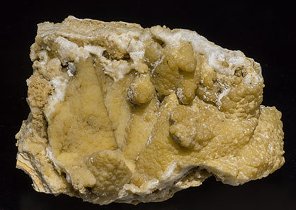 Smithsonite after Calcite with Hemimorphite. Front