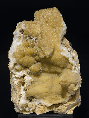 Smithsonite after Calcite with Hemimorphite. Side
