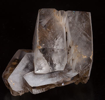 Calcite with inclusions. Side