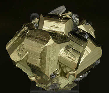 Pyrite with Quartz and Tetrahedrite. Side