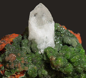 Austinite (variety cuprian) with Calcite.