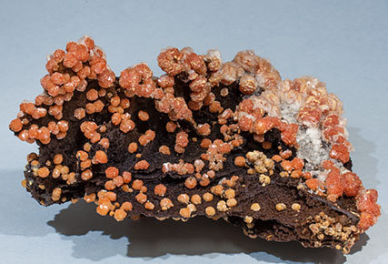 Vanadinite with Goethite. Front