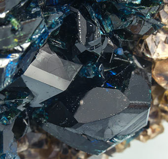 Lazulite with Quartz and Siderite.