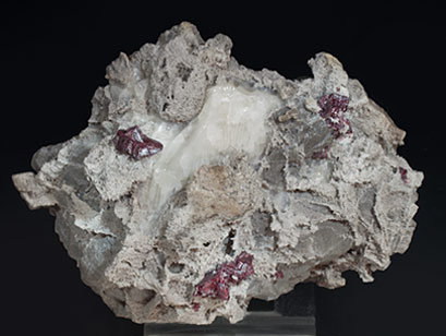 Cinnabar with Calcite. Top
