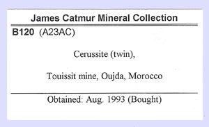 Twinned Cerussite with Galena