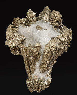 Pyrite with Baryte. Front
