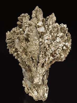 Pyrite with Baryte. Rear
