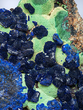 Azurite with Malachite.