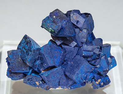 Doubly terminated Azurite. Front