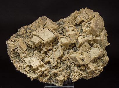 Siderite after Calcite with Pyrite.