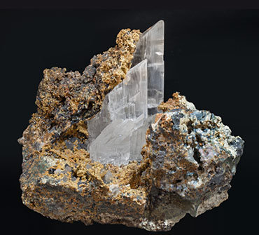 Gypsum with Siderite and Quartz (variety chalcedony).