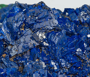 Azurite with Malachite. Close-up