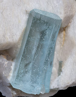 Beryl (variety aquamarine) with Orthoclase.