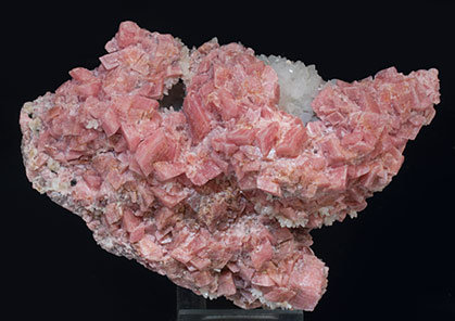 Rhodochrosite with Quartz.