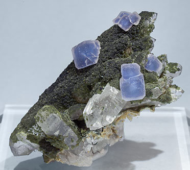 Fluorite with Quartz, Muscovite and Chlorite