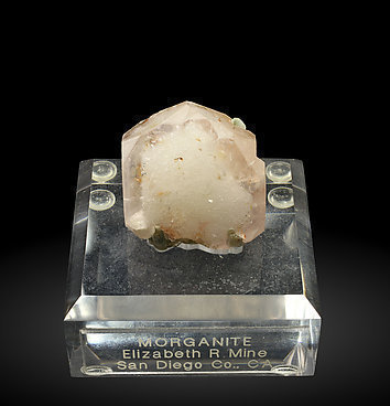 Beryl (variety morganite) with Muscovite. Front
