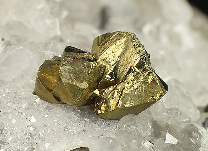 Tetrahedrite (silver rich variety) with Chalcopyrite and Quartz.