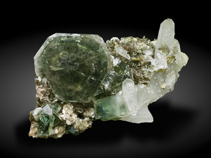 Fluorapatite with Quartz and Muscovite. Front