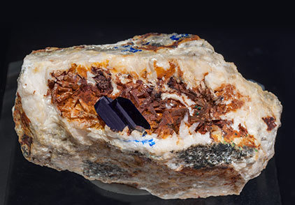 Azurite with Dolomite.