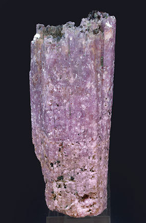 Lepidolite after Elbaite with Elbaite. Front