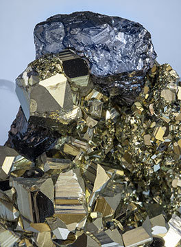 Pyrite with Sphalerite and Calcite.