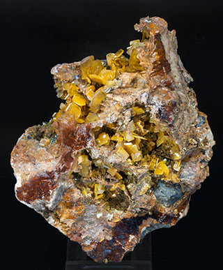 Wulfenite with Dolomite. Front