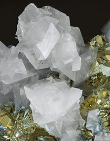 Pyrite with Calcite.