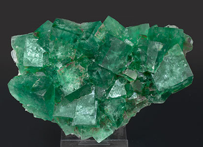 Fluorite with limonite. Front
