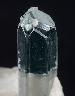 Beryl (variety aquamarine) with Feldspar.