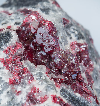 Cinnabar with Calcite.