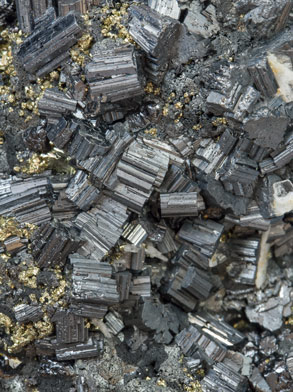 Bournonite with Pyrite and Baryte.