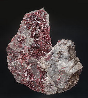 Cinnabar with Quarz and Dolomite.