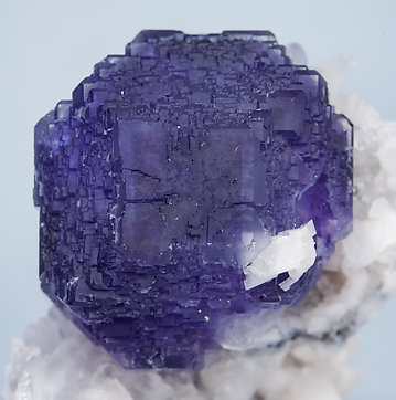 Fluorite with Dolomite and Quartz.