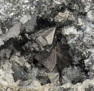 Freibergite with Quartz and Pyrite.