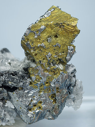 Acanthite with Chalcopyrite. Rear