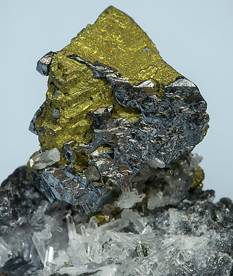 Acanthite with Chalcopyrite.