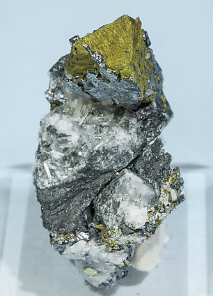 Acanthite with Chalcopyrite. Front