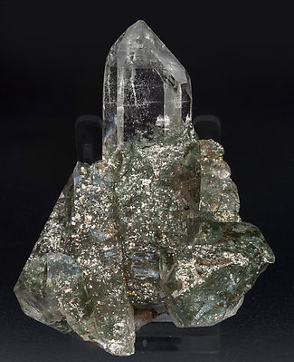 Quartz with Rutile and Mica. Front