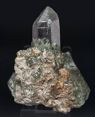 Quartz with Rutile and Mica. Rear