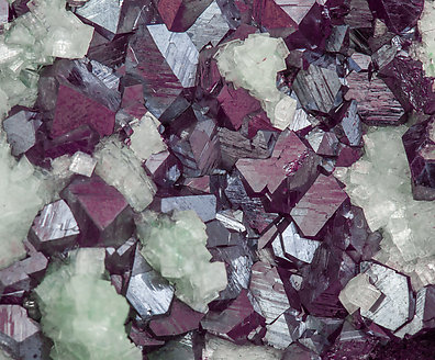 Cuprite with Dolomite (variety cuprian) and Adamite (variety cuprian).