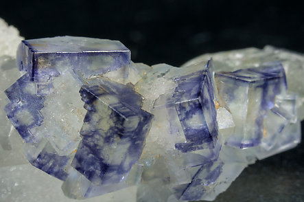 Fluorite with Quartz and Chlorite.
