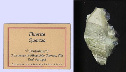 Fluorite with Quartz and Chlorite