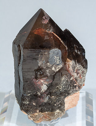Quartz (variety smoky) with Microcline.
