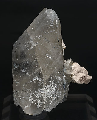 Quartz (variety smoky) with Orthoclase. Front