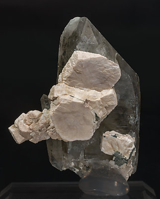 Quartz (variety smoky) with Orthoclase. Rear