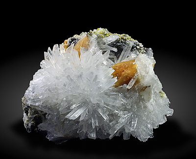 Roweite with Olshanskyite and Magnetite.